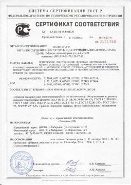 Сертификаты соответствия ГОСТ